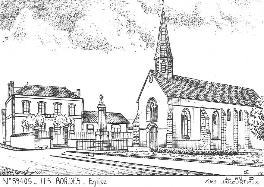 Cartes postales LES BORDES - église